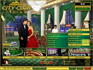 Lobby du casino en ligne City Club